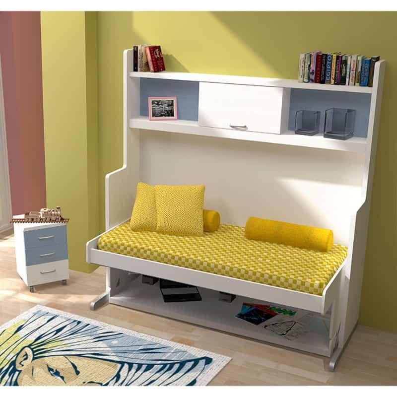Gana espacio en los dormitorios de los niños apostando por los muebles abatibles 2