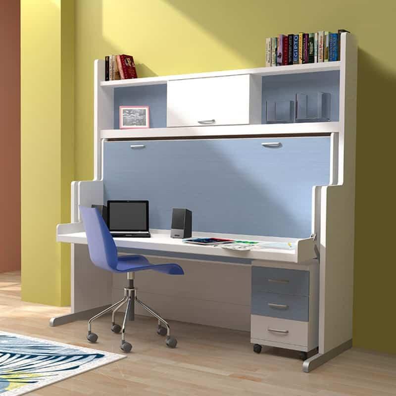 Gana espacio en los dormitorios de los niños apostando por los muebles abatibles 1
