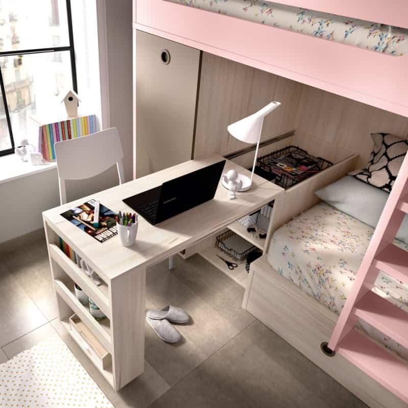 Gana espacio en los dormitorios de los niños apostando por los muebles abatibles 6