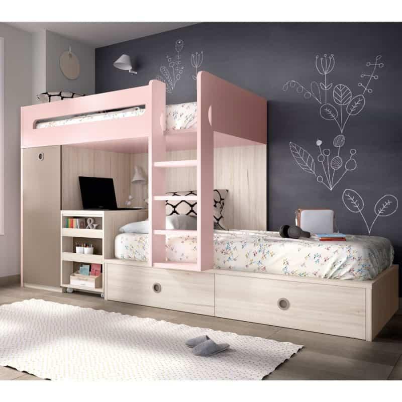 Gana espacio en los dormitorios de los niños apostando por los muebles abatibles 5