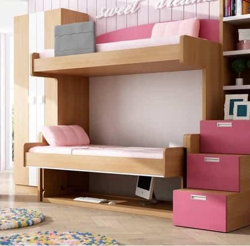 Gana espacio en los dormitorios de los niños apostando por los muebles abatibles 4
