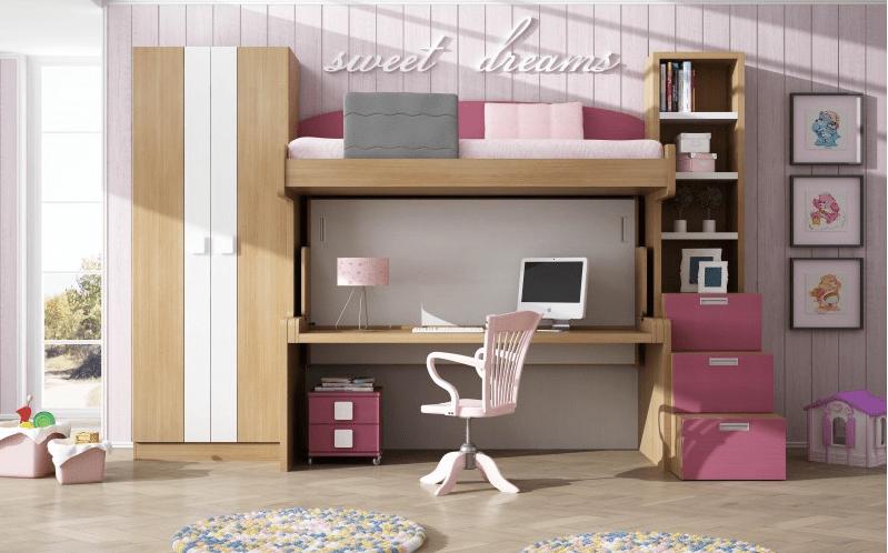 Gana espacio en los dormitorios de los niños apostando por los muebles abatibles 3