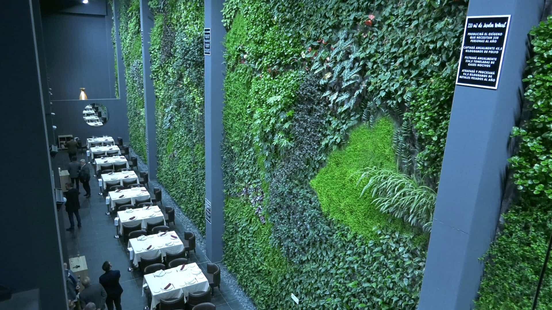 El jardín vertical interior más grande de Europa en Alcorcón (Madrid)
