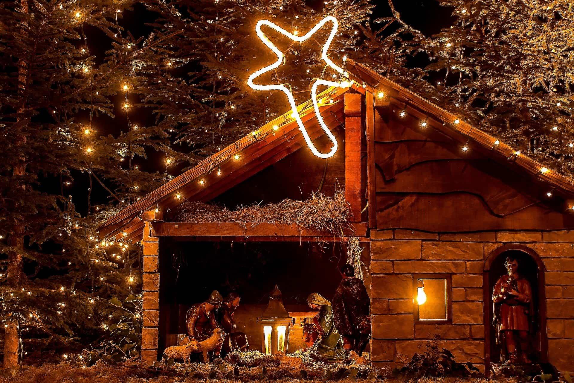 decorar el belen de Navidad