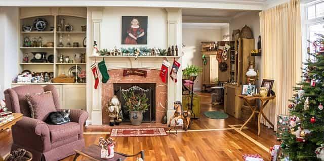 decorar un salon en Navidad