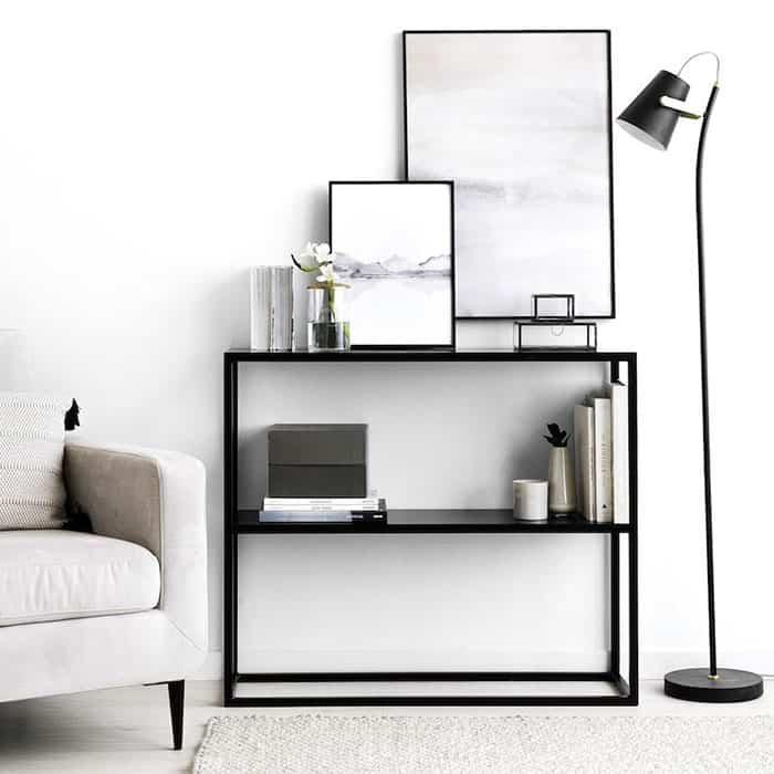 Cómo plantear en tu casa una decoración en blanco y negro 4