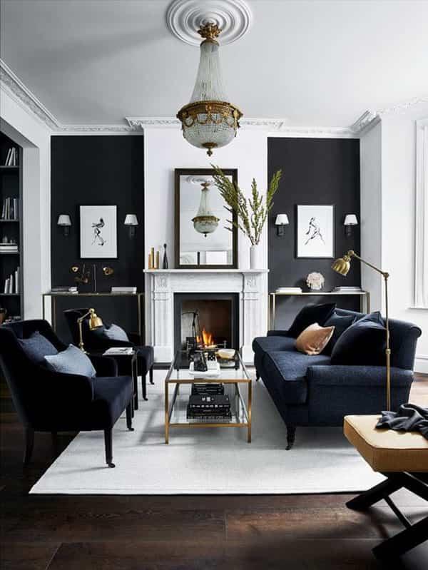 Cómo plantear en tu casa una decoración en blanco y negro 1