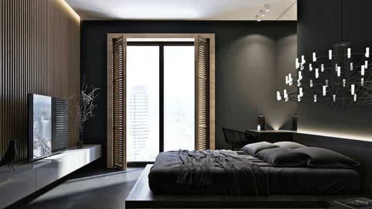 6 colores para tener paredes oscuras en un dormitorio
