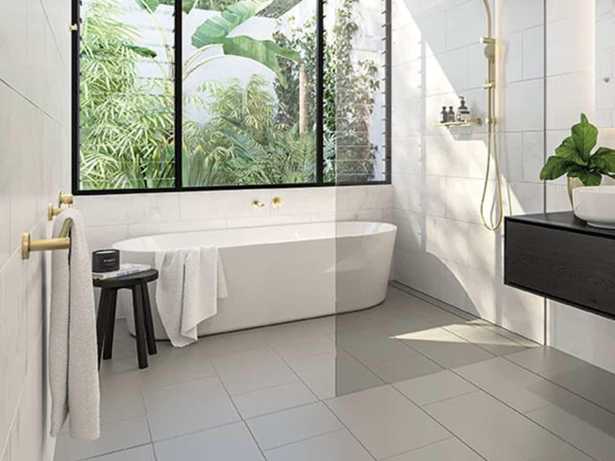 Cómo revestir el suelo de un baño 11