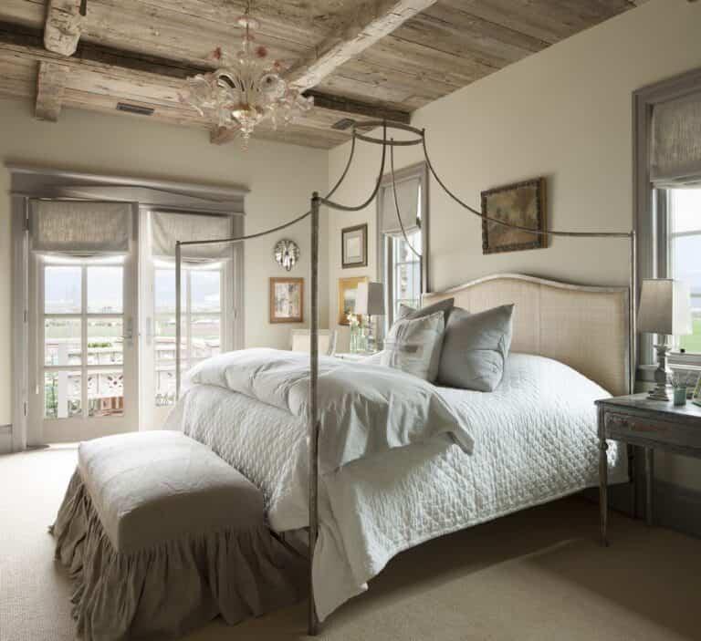 Ideas para decorar un dormitorio francés de estilo rústico