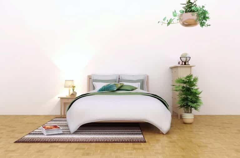 Decorar un dormitorio añadiendo color, textura, patrón y brillo