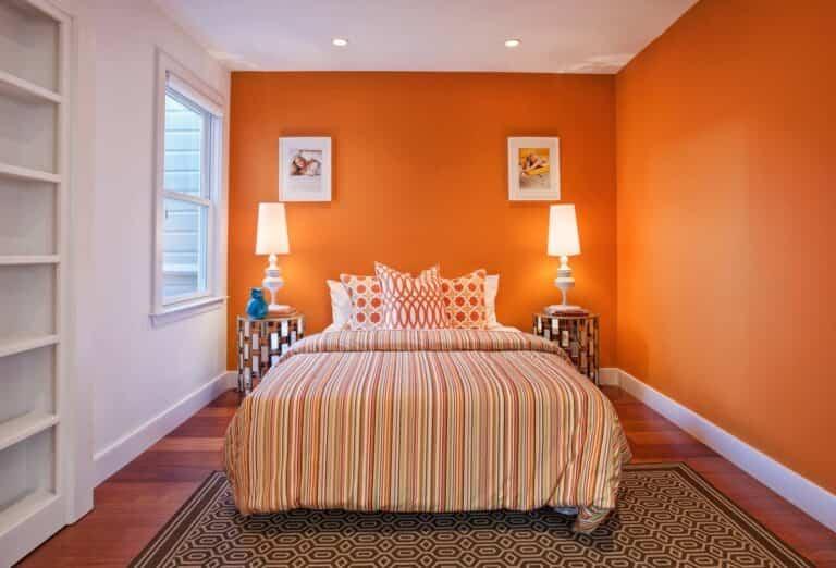 8 ideas de color para un dormitorio naranja